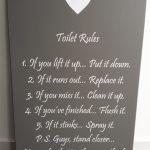 Tekstbord toilet rules